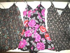 Womens Juniors Designer Romper Dress Lot M Macys Forever 21 Summer Floral Black
