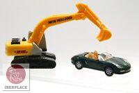 2x H0 escala 1:87 ho maqueta trenes modelismo auto car MPG coche excavadora