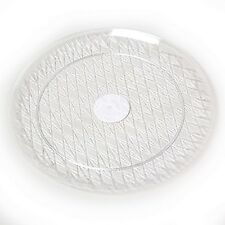 2 Round Crystal Clear 14 Inch Serving Trays