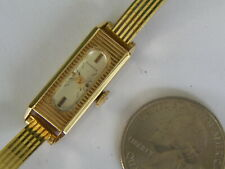 WOM 1940'S SWISS JUVENIA 18K YELLOW GOLD WATCH & MATCHING GF BRACELET