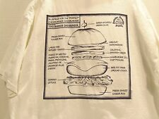 CHEESEBURGER CHEESBURGER (BIG IS BETTER)BLUE PRINT CHEESEBURGER T-SHIRT(XL)RARE