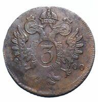 1800 Austria Three 3 Kreuzer - Franz II - Lot 963