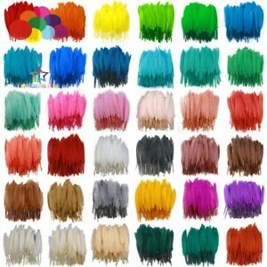 100Pcs 10-15cm Goose Feathers Decorative DIY Jewelry Decoration Carnival 36color