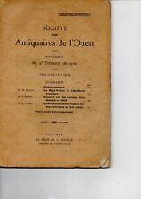 SOCIETE DES ANTIQUAIRES DE L OUEST   1er TRIMESTRE 1932  */*