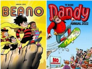 New Annual 2022 Beano and The Dandy 2 Book Set, DC Thompson FREE & FAST DELIVERY