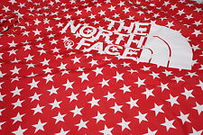 NEW SUPREME X THE NORTH FACE PACKABLE TNF COACHES JACKET RED STARS Sz M LOGO BOX