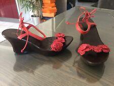 Sandales compensées MINELLI pt 37 paille et cuir