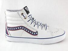 VANS Old Skool SK8-Hi Shoes USA Stars Patriotic Leather Men's US 6 Women's 7.5