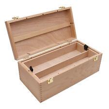 XXL Utensilienkoffer Holz, Volumen 10 L, Malkoffer Malbox Organizer Aufbewahrung