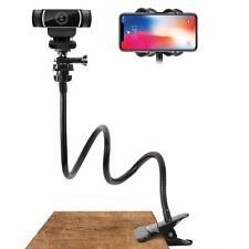 Webcam Stand Flexible Desk Mount Gooseneck Clip-on Phone Camera Holder Bracket