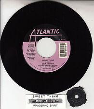 "MICK JAGGER Sweet Thing ROLLING STONES 7"" 45 record + juke box title strip RARE!"