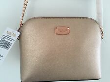 MICHAEL  KORS CINDY LG DOME CROSSBODY LEATHER BAG HANDBAG ROSE GOLD - New
