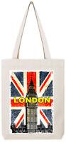London Big Ben Union Jack England Souvenirs British Tote Bag T183