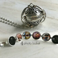 Hot Expanding Photo Locket Necklace Pendant Angel Wings Gift Jewelry Decoration