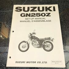 Suzuki Set-Up Manual for GN250Z June 1982 Printed in Japan in English