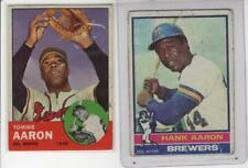 AARON BROTHERS  HANK's LAST, TOMMIE's FIRST  RC  TOPPS 1976 #550 & 1963 #46