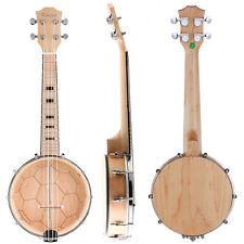 Kmise Banjo Ukulele Ukelele Uke Concert 4 String 23 Inch Maple Wood