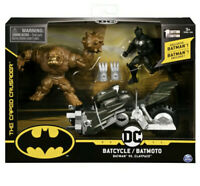 Spin Master DC Comics Batman Batcycle Vehicle with Exclusive Batman & Clayface