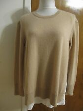Bloomingdale's women's camel cashmere rich sweater Large NWT bit big