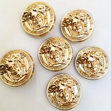 Versace Buttons - Vintage Pre-owned Large Buttons - Set x 6