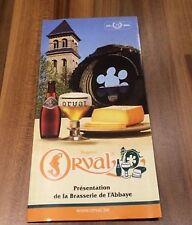 Feuillet présentation brasserie Orval dépliant 2008