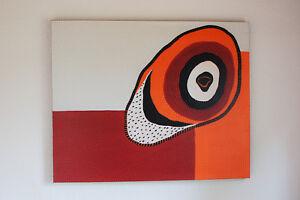Dot Art Punktmalerei Dotpainting Canvas Leinwand Acryl abstract red orange