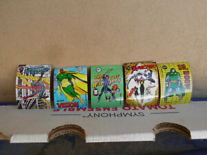 1986 Marvel Universe Series 1 Sticker Lot #s30-41-51-64-76 X-Factor- Spiderman A