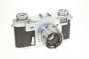 Contax II a mit Zeiss Opton 2,0/50 red T #T28887 Bj 1951 guter Zustand