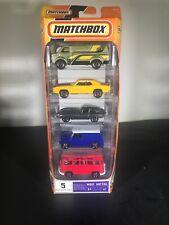 Matchbox MBX Metal M0138 5 pack Chevrolet Camaro Austin Mini Van VW Bus Jaquar