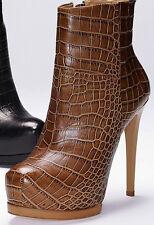 75% Off! Pour La Victoire Women's Volkova Ankle Boot- Tobacco Croco, Sz 9.5 $365