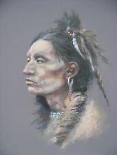 "Magnífico Original Royal patrocinio artista Joel Kirk ""Kiowa"" Indio Pintura"