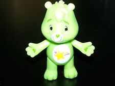 2x NEW OOPSY BEAR POSEABLE Figure CARE BEARS Cake Topper TCFC Green Plastic