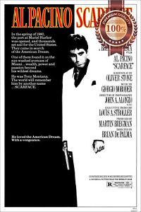 SCARFACE AL PACINO 1983 OFFICIAL ORIGINAL CINEMA MOVIE PRINT PREMIUM POSTER