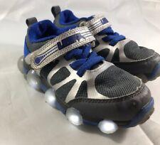 Stride Rite Kids' Leepz 3.0 Lighted Sneaker Dark Grey/Blue Toddler Size 7.5