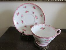 SHELLEY Bone China England Tea Cup And Saucer Pink Roses
