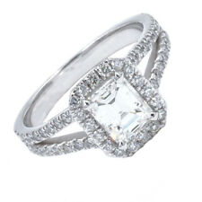 GIA Certified Diamond Engagement Ring 2.70 CTW Emerald Cut 18K