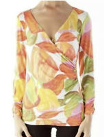 CAbi tulip Top  wrap NWT size small
