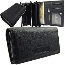 Portemonnaie  Damenlederbörse Damen Geldbörse  Geldbeutel Leder  5285  Schwarz