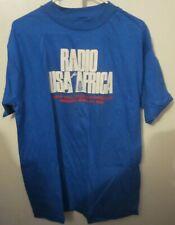 Vintage Radio Usa for Africa T-Shirt 1985 Westwood One-Promo-Michael Jackson