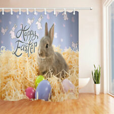 Easter bunny and egg Shower Curtain Bathroom Polyester Fabric & 12hooks 71x71in