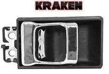 Kraken Inside Door Latch Handle For Nissan Truck 86-97 Left=Right Black/Chrome