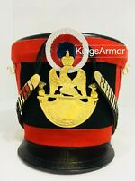 HALLOWEEN Shako Helmet Red Color French Napoleonic