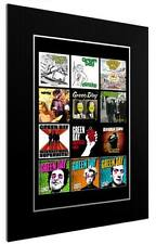 More details for mounted / framed print greenday discography - 3 sizes  poster gift artwork