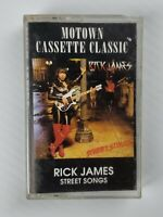 Rick James Street Songs Cassette 1992 Motown Clear Reissue FREE SHIPPING