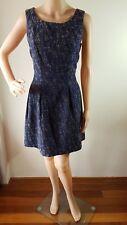 NEXT Ladies Blue Bone Lined Sleeveless Knee Length Dress Size: 12 EUC