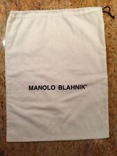 "MANOLO BLAHNIK Drawstring Logo Dust Bag - 10 1/2"" x 13 1/2"""