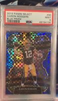 2019 Panini Select Aaron Rodgers Concourse Blue Prizm 85/175 #90 PSA 9 PACKERS