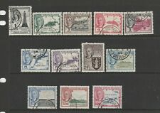British Virgin Islands 1952 defs complete cds SG 136/47
