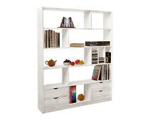 offenenes Regal weiß Bücherregal Raumteiler Büroregal Fach Schublade weiss JOVA