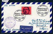 96754) Belgien SABENA FF Brüssel - New York 8.1.71, Karte ab BRD ESST Engels